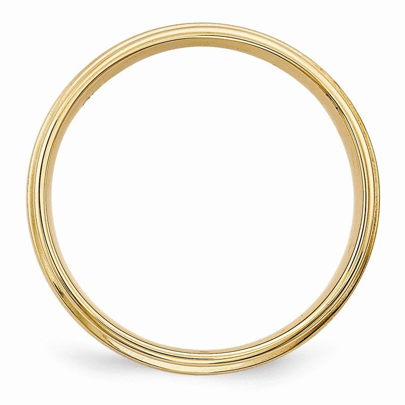 Quality Gold 14k Yellow Gold Standard Comfort Fit Brush Satin Fancy Band