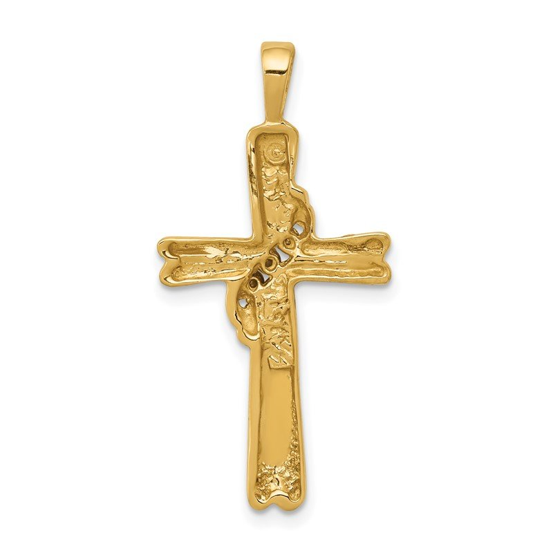 Quality Gold 14k White Gold AA Diamond Cross Pendant