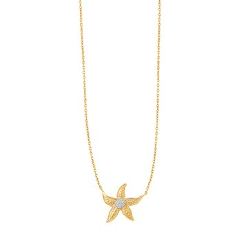 14K Gold Starfish Necklace