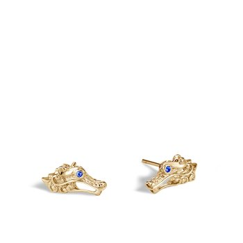 Legends Naga 15x7.5MM Stud Earring in 18K Gold