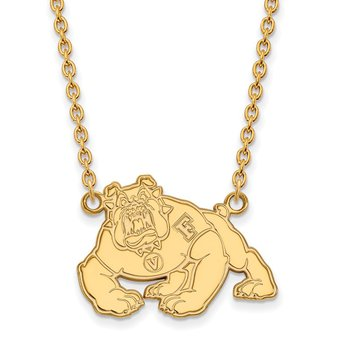 Gold-Plated Sterling Silver California State University Fresno NCAA Necklace