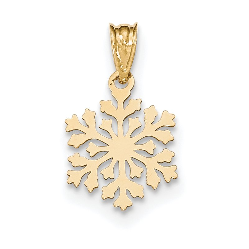 Quality Gold 14k Laser Cut Snowflake Charm