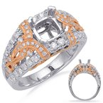 S. Kashi & Sons Bridal Rose & White Gold Engagement Ring