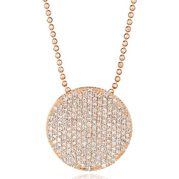 Rose gold diamond large Infinity necklace