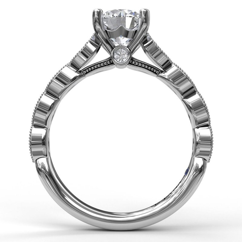 Fana Vintage Marquise Shaped Engagement Ring