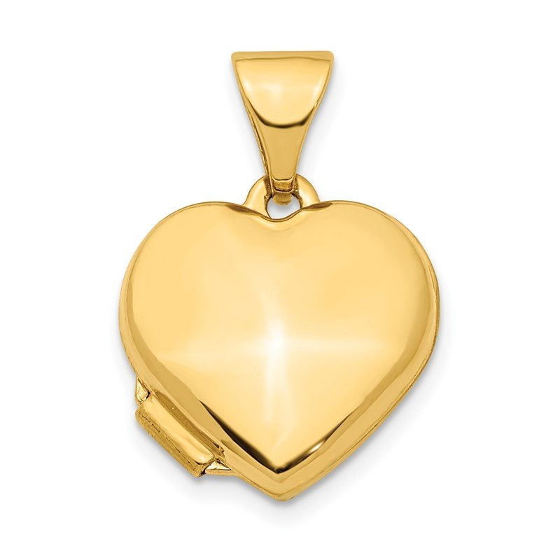 Quality Gold 14K Heart 13mm Locket Pendant