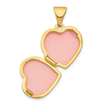 14K Heart 13mm Locket Pendant