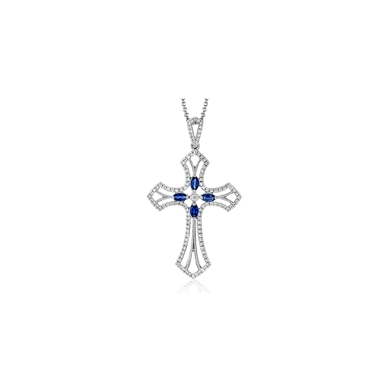 Simon G NP211 CROSS PENDANT