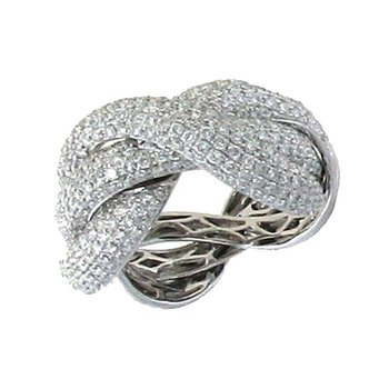 Twist Ring With Diamonds &Ndash; 6.5