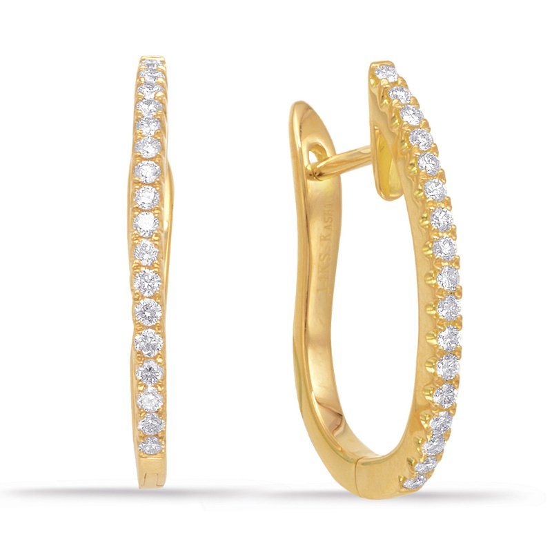S. Kashi  & Sons Yellow Gold 20mm Hoop Earring
