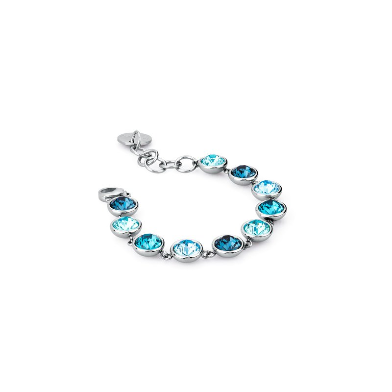 Brosway 316L stainless steel and montanta, light turquoise, indicolite and aquamarine Swarovski® Elements