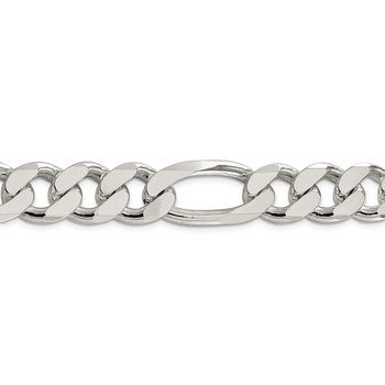 Sterling Silver 15mm Figaro Chain