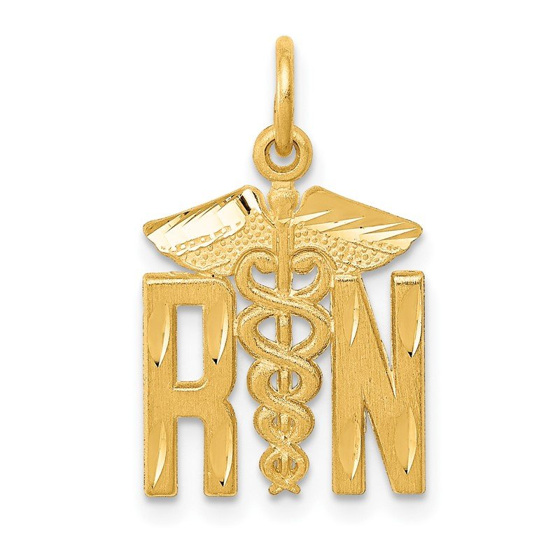 Quality Gold 14k RN Nurse Charm