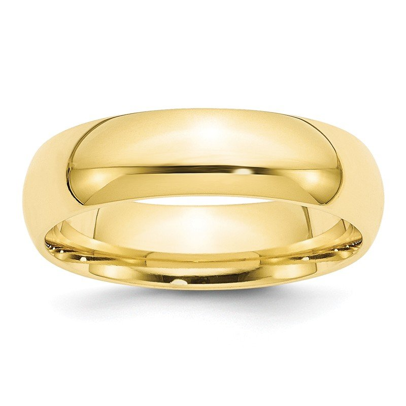 Quality Gold 10KY 6mm Standard Comfort Fit Band Size 10