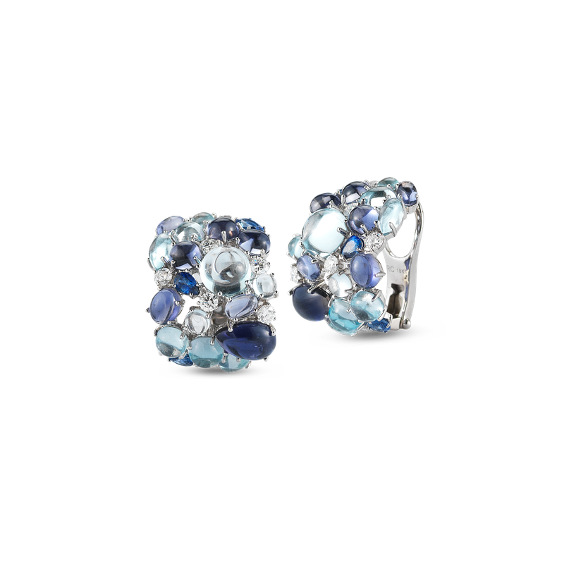 Roberto Coin Earrings With Topaz, Iolite, Sapphires And Diamonds