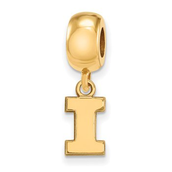 Gold-Plated Sterling Silver University of Illinois NCAA Bead