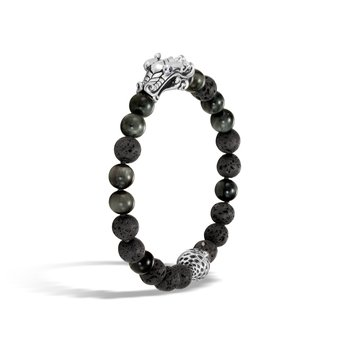 Legends Naga Bead Bracelet in Silver