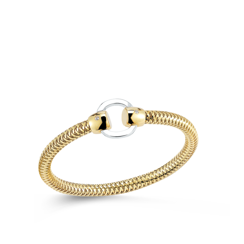 Roberto Coin Flexible Bangle With Circle Station