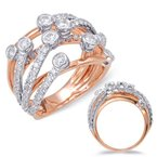 S. Kashi  & Sons White & Rose Diamond Fashion Ring