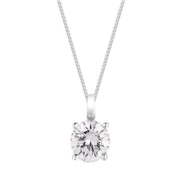 Classic 1 1/2ct Solitaire Diamond Pendant