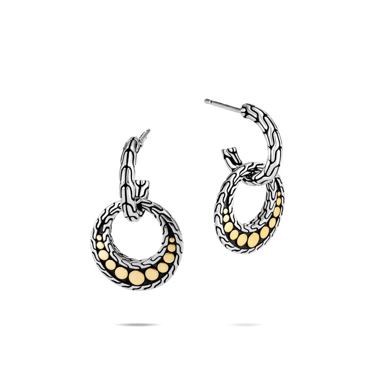 John Hardy  Dot Drop Earring in Silver and 18K Gold. Available at our Halifax store.