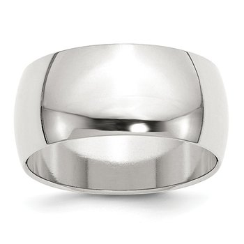 SS 10mm Half Round Size 10 Band