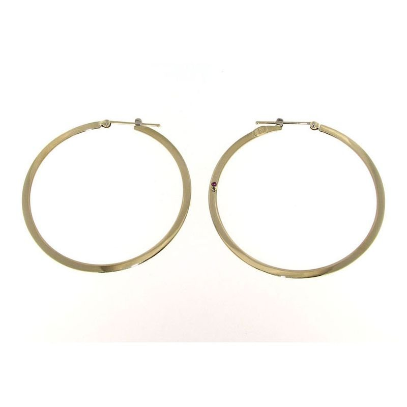 Roberto Coin 18Kt Gold Large Flat Hoop Earrings