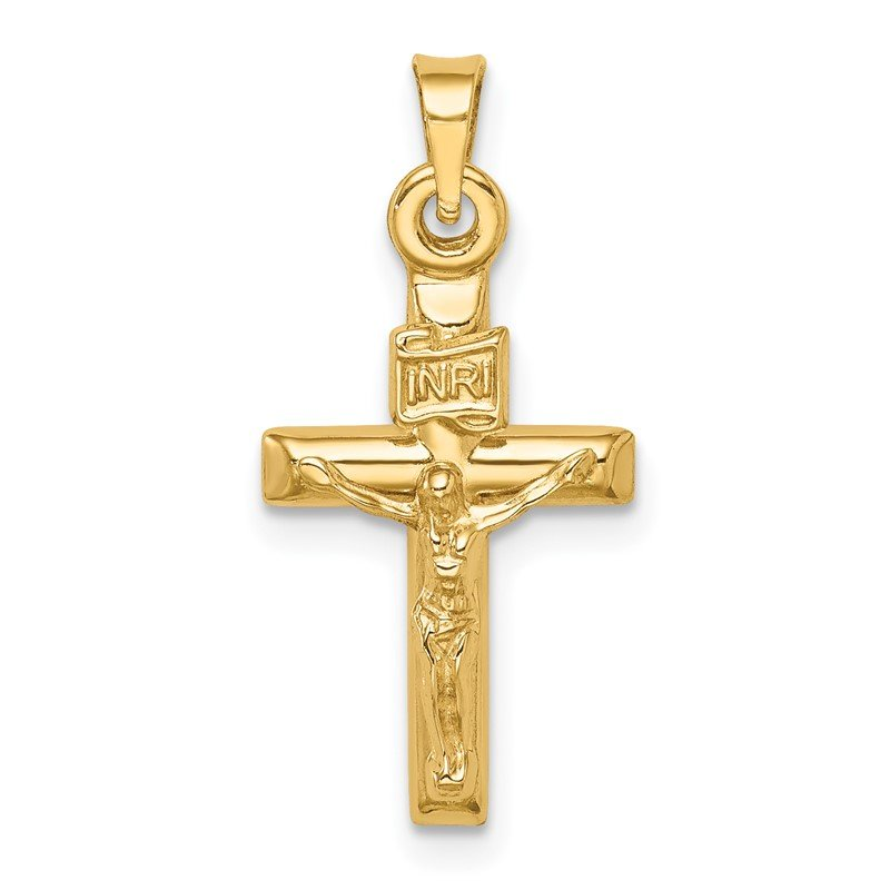 Quality Gold 14k Hollow Crucifix Pendant
