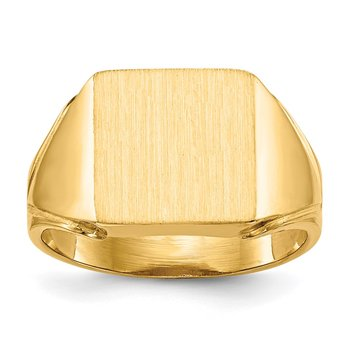 14k 12.0x12.0mm Open Back Men's Signet Ring