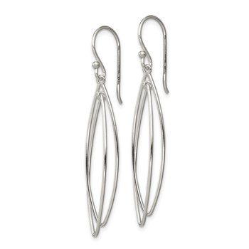 Sterling Silver Multi-Hoop Dangle Earrings