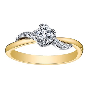 Maple Leaf Diamond Wind's Embrace Ladies Engagement Ring