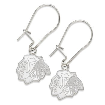 Sterling Silver Chicago Blackhawks NHL Earrings
