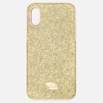 High Smartphone Case with Bumper, iPhone® XS Max, Gold tone