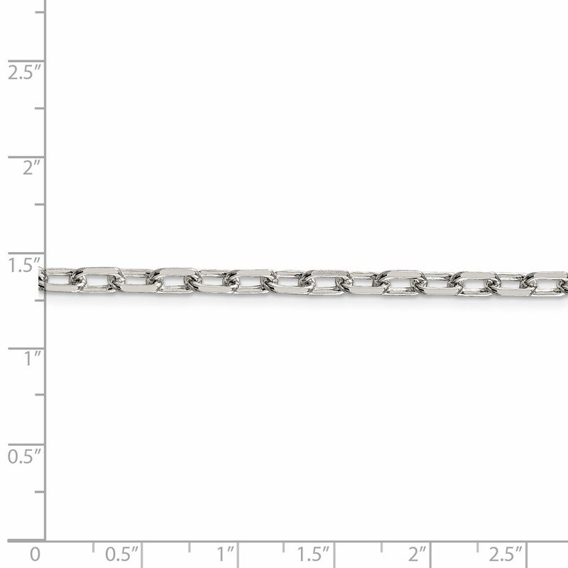 J.F. Kruse Signature Collection Sterling Silver 4.3mm Diamond-cut Long Link Cable Chain