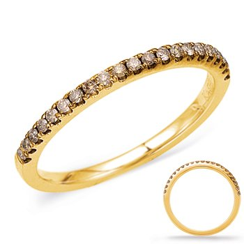 Yellow Gold Champaign Diamond Band