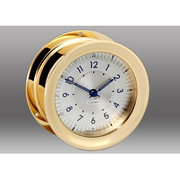 Polaris 12/24 Clock, Brass