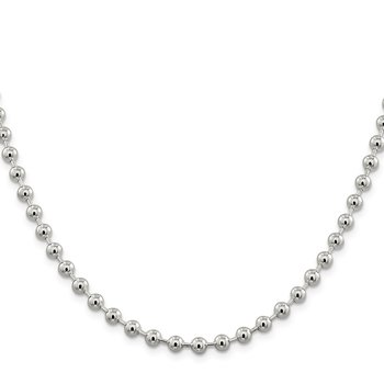 Sterling Silver 5mm Beaded Chain