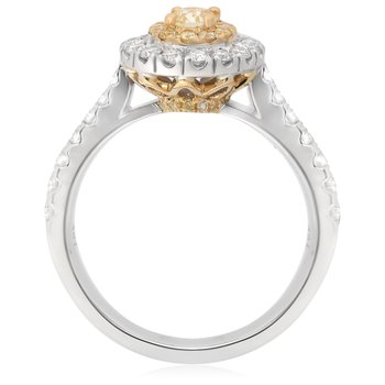 Yellow Diamond Pave Ring
