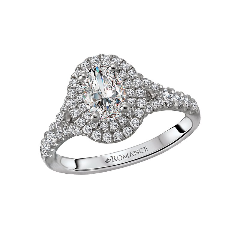Romance Halo Semi Mount Ring