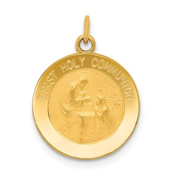 14k First Holy Communion Charm