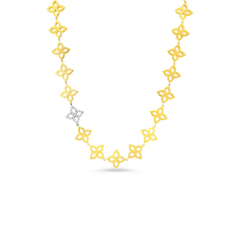 Roberto Coin 18K GOLD FLOWER OUTLINE COLLAR