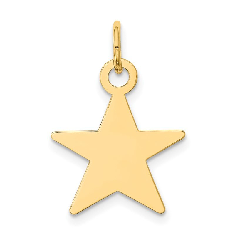 J.F. Kruse Signature Collection 14K Star Disc Charm