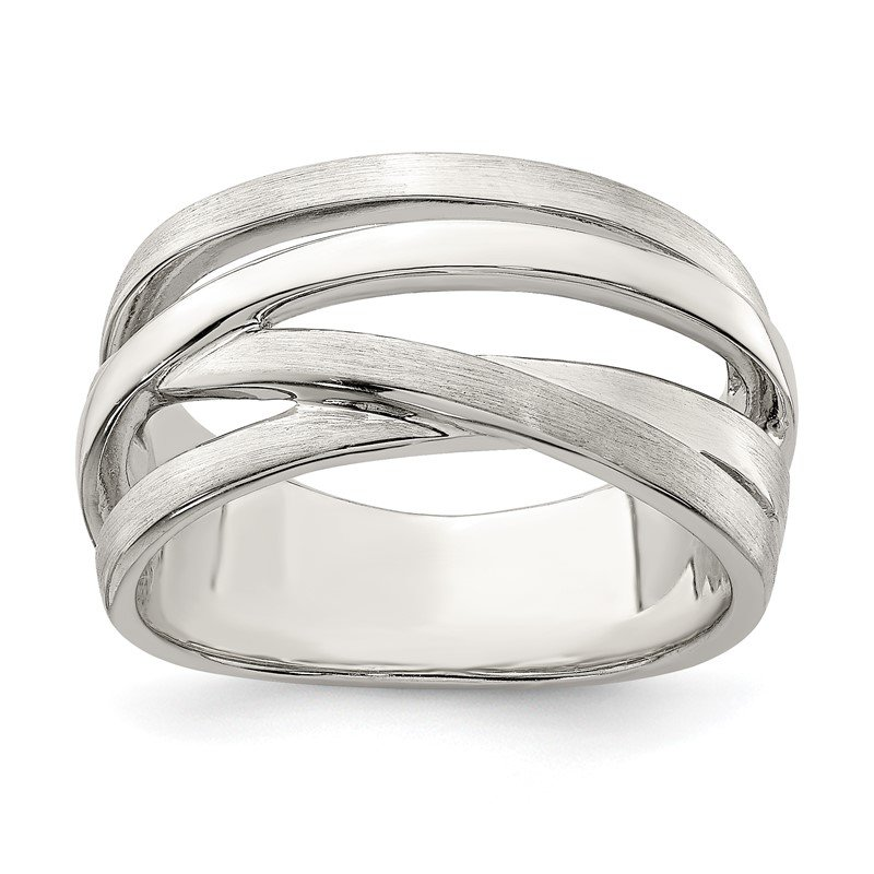 Quality Gold Sterling Silver Brushed Ring