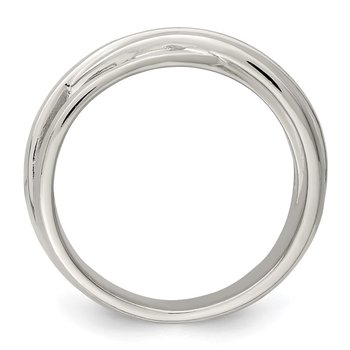 Sterling Silver Brushed Ring