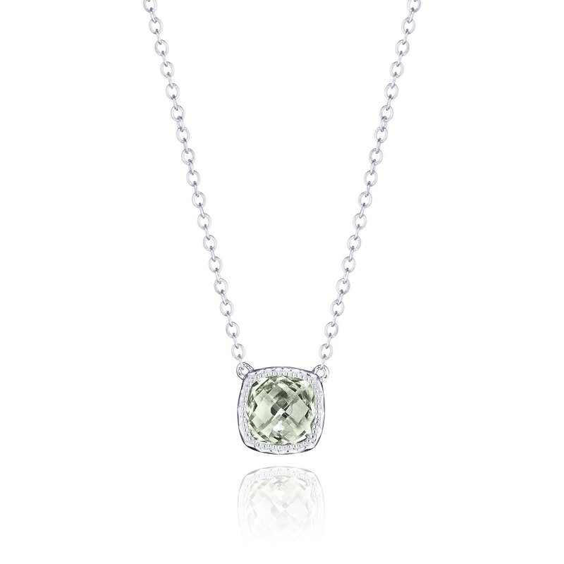 Tacori Fashion Petite Cushion Gem Necklace with Prasiolite