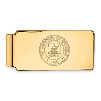 Gold University of Wyoming NCAA Money Clip