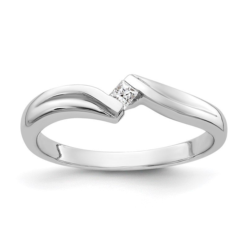 Quality Gold 14k White Gold Polished AA Diamond Ring