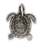 Quality Gold Sterling Silver Antiqued Turtle Charm