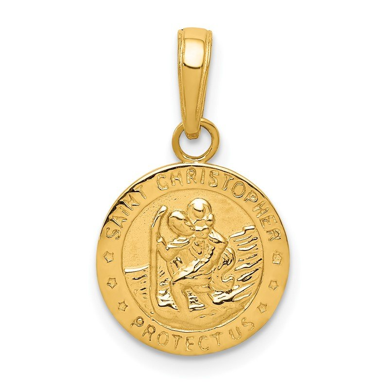 Quality Gold 14k Saint Christopher Medal Charm