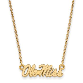 Gold-Plated Sterling Silver University of Mississippi NCAA Necklace